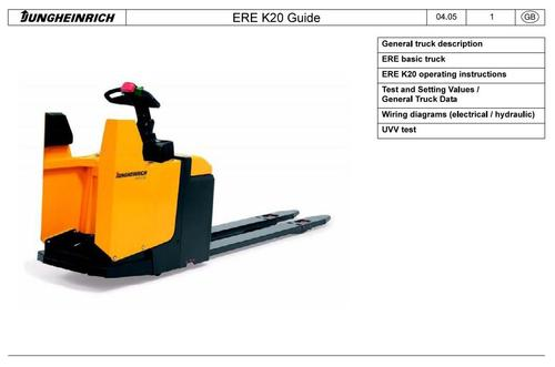Free Jungheinrich Electric stacker Type ERE K20 (03.2005-10.2012) Workshop Service Manual Download thumbnail