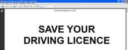 Thumbnail Save Your Driving Licence