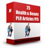Thumbnail 25 Health & Beauty PLR Articles V15