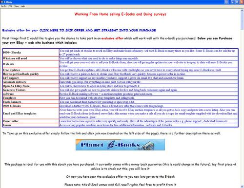 Pay for Working From Home selling E-Books and Doing surveys