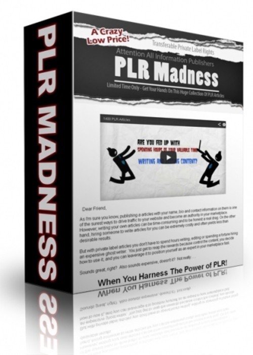 Pay for PLR Madness 1400 Articles