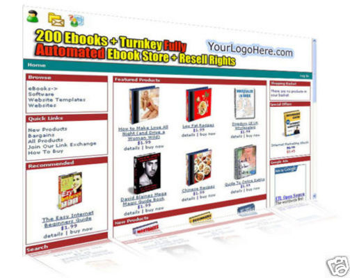 Pay for turnkey ebook website