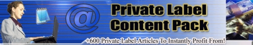 Pay for +600 Unique Niche Articles with Private Label Rights
