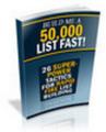 Thumbnail Build Me a 50,000 List Fast!