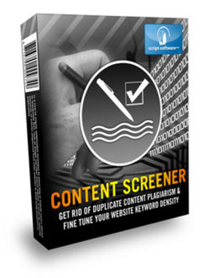Pay for *NEW!* Content Screener With Resale Rights