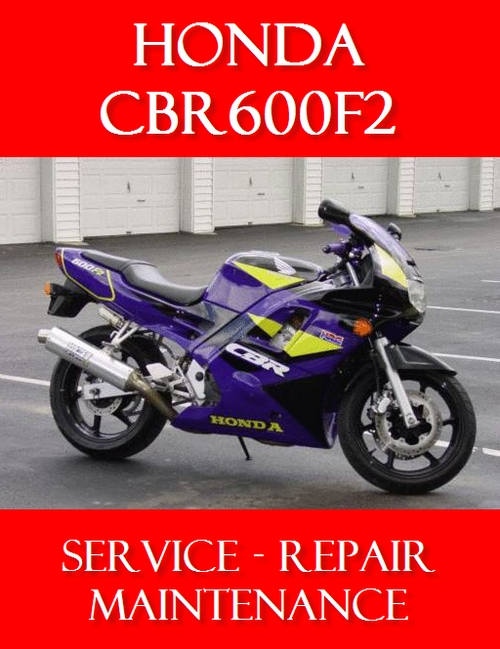 honda cbr 600 f2 1991 1994 service repair manual cbr600. Black Bedroom Furniture Sets. Home Design Ideas