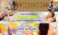 Thumbnail Baby Website Headers (3in1, 3 PSD+3 JPG, 750x150px, Hi-res)