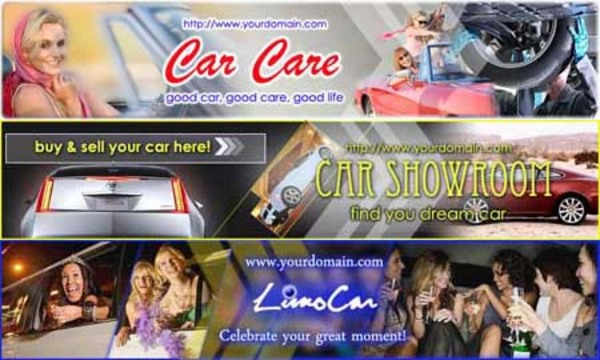 Pay for Car Website Header (3in1, 3PSD+3JPG, 750x150px, Hi-res)