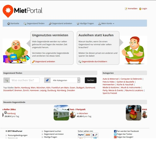 Pay for PHP-Script Mietportal