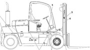 Thumbnail Still Fork Truck Type R70-60, R70-70, R70-80 (KALMAR): R7126, R7127, R7128 Parts Manual