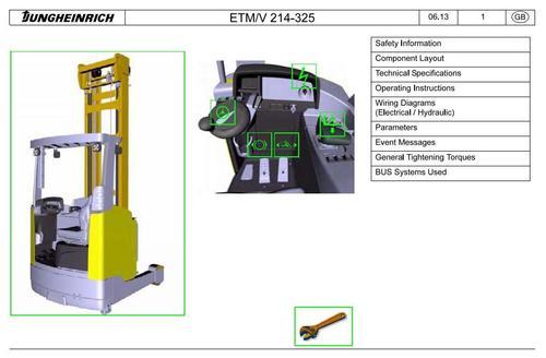 pay for jungheinrich electric reach truck etm214-216, etm320-325, etv214-