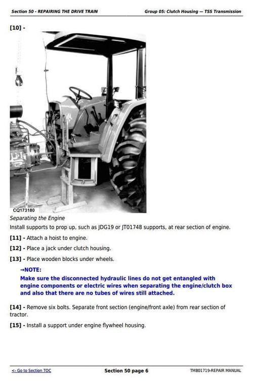 Deere Tractors 5055e  5065e  5075e  5078e  5085e  5090e South America  Africa Repair Manual