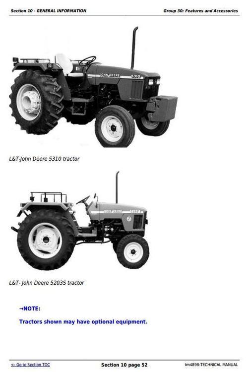 Deere Tractors 5203s  5310  5310s  India  Diagnostic And