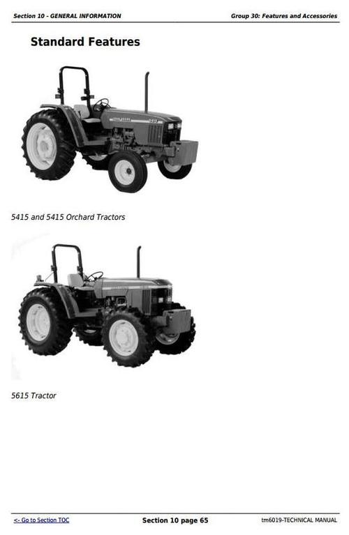 Deer Tractors 5415  5415n  5415h  5615  5615hc  5715  5715hc All Inclusive Technical Manual