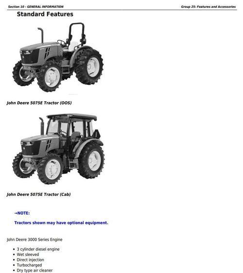 john deere 5045e 5055e 5065e 5075e ft4 north america tractors rh tradebit com John Deere 4640 John Deere 5055D Specs