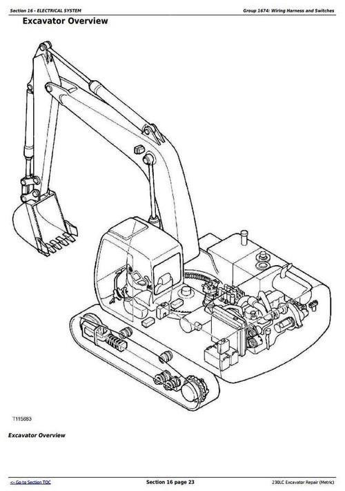 deer 230lc excavator  metric  service repair technical manual  tm16