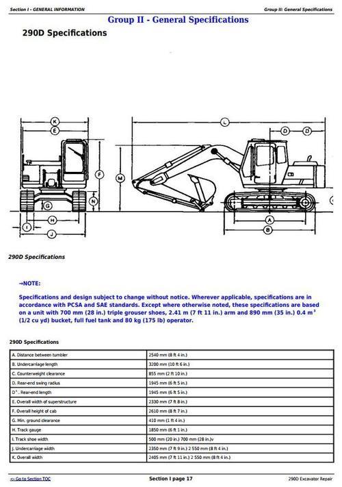 Pay for John Deere 290D Excavator Service Repair Technical Manual (tm1443)