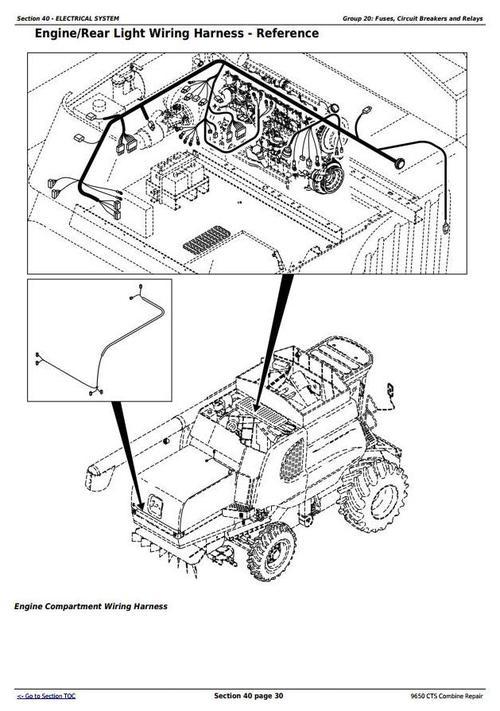 "Deer 9650CTS Combine (S.N. before 695400, 700401-705400 ... on john deere electrical diagrams, john deere starters diagrams, john deere power beyond diagram, john deere tractor wiring, john deere 212 diagram, john deere 345 diagram, john deere cylinder head, john deere 310e backhoe problems, john deere fuse box diagram, john deere gt235 diagram, john deere fuel system diagram, john deere voltage regulator wiring, john deere repair diagrams, john deere chassis, john deere rear end diagrams, john deere sabre mower belt diagram, john deere riding mower diagram, john deere 42"" deck diagrams, john deere 3020 diagram, john deere fuel gauge wiring,"