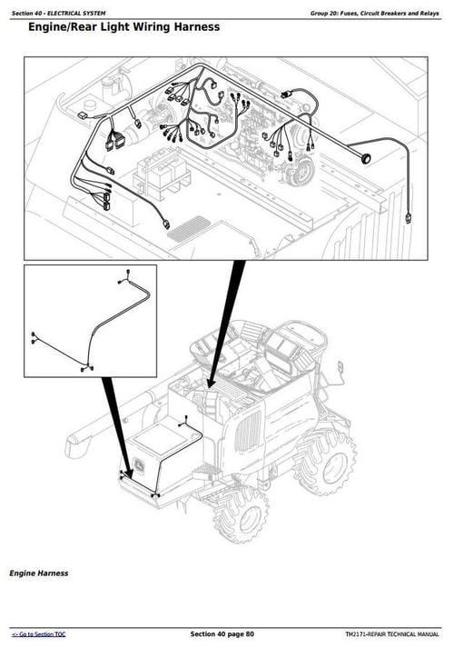 """Deer 9660CTS Self-Propelled Combine (S.N. from 705401) Service Repair on john deere electrical diagrams, john deere starters diagrams, john deere power beyond diagram, john deere tractor wiring, john deere 212 diagram, john deere 345 diagram, john deere cylinder head, john deere 310e backhoe problems, john deere fuse box diagram, john deere gt235 diagram, john deere fuel system diagram, john deere voltage regulator wiring, john deere repair diagrams, john deere chassis, john deere rear end diagrams, john deere sabre mower belt diagram, john deere riding mower diagram, john deere 42"""" deck diagrams, john deere 3020 diagram, john deere fuel gauge wiring,"""