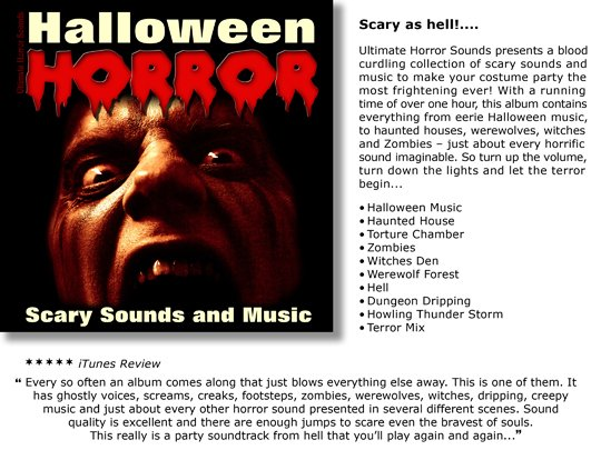 pay for halloween horror scary sounds and musiczip