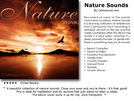 Pay for Nature Sounds - instant download CD of relaxing sounds