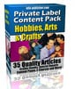 Thumbnail 35 Hobbies Arts and Crafts PLR Article Pack