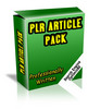 Thumbnail PLR Article Pack