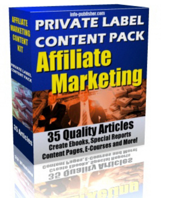 Pay for 35 Affiliate Marketing PLR Article Pack