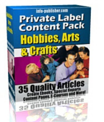 Pay for 35 Hobbies Arts and Crafts PLR Article Pack