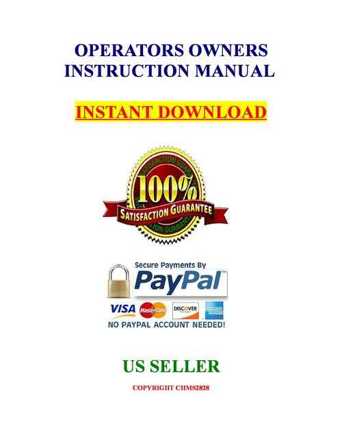 Sig Sauer Mosquito Pistol Owners Parts Manual download Instr