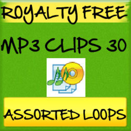 Pay for 30 Royalty Free MP3 Clips Assorted