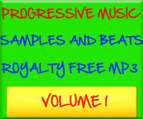 Pay for Progressive Music Samples Beats Royalty Free MP3 Volume 1