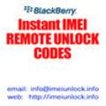 Thumbnail IMEI unlock code for Blackberry 7100
