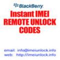 Thumbnail IMEI unlock code for Blackberry 8100