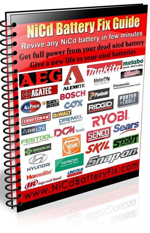 Pay for HOW TO FIX DREMEL NICAD BATTERY RVD NICD BATTERY FIX DIY PLAN GUIDE