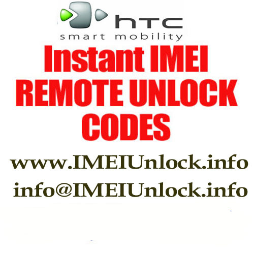 Thumbnail HTC SDA MDA DASH WING REMOTE INSTANT IMEI UNLOCK CODE