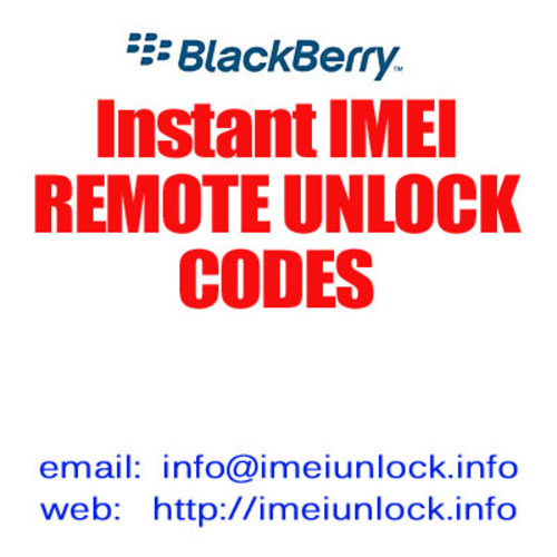 Pay for IMEI unlock code for Blackberry 8700r