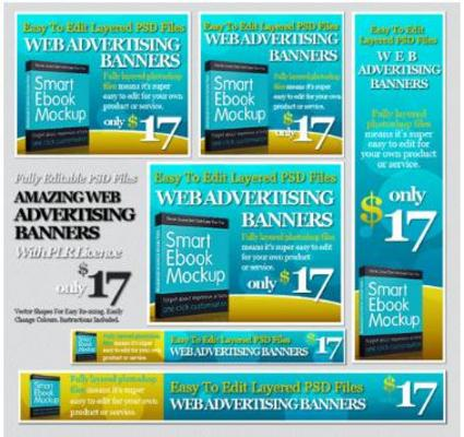 Pay for 24 Effective Fully Layered Photoshop Advertising Banners