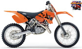 Thumbnail KTM 125 200 250 300 SX EXC Owners Manual 2003