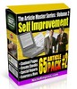 Thumbnail 65 Self Improvement PLR Articles - Motivational PLR Articles
