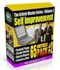 Thumbnail 65 Self Improvement PLR Articles - Motivational PLR Articles