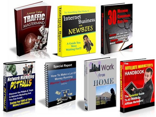 Pay for 7 No Restriction Internet Marketing Books With PLR