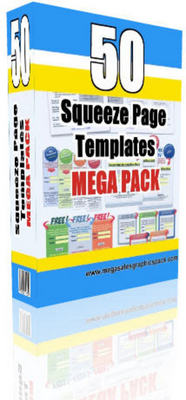 Pay for 50 Premium Website Templates, 50 Squeeze Pages