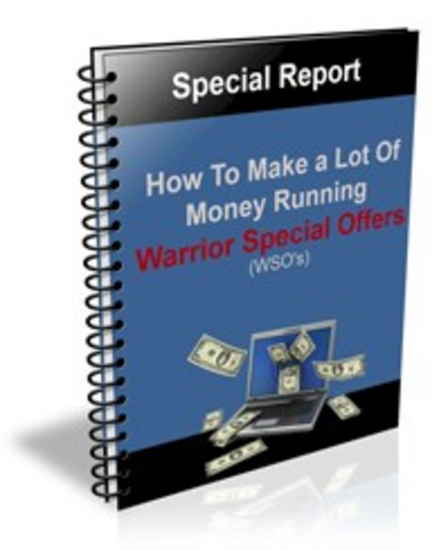 Pay for How To Make A Lot Of Money Running WSOs + PLR