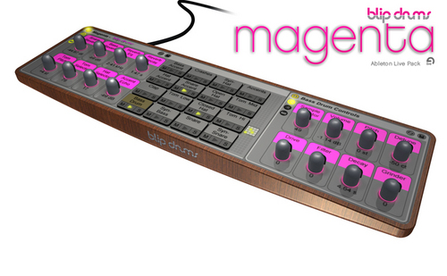 Pay for Blip Drums Magenta - A Drum Machine for Ableton Live
