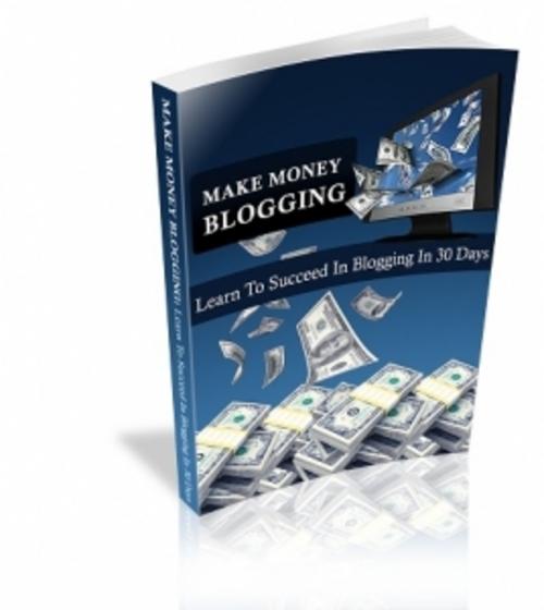 Pay for Make Money Blogging eBook