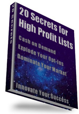 Pay for 20 Secrets for High-Profit Lists