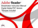 Thumbnail Breadman Bread Baker Model TR 550b Instruction Manual   Recipes TR550b.pdf