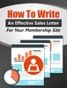 Thumbnail Write An Effective Membership Sales Letter W / Resell Rights