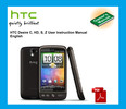 Thumbnail HTC Desire C HD S & Z User Instruction Manual